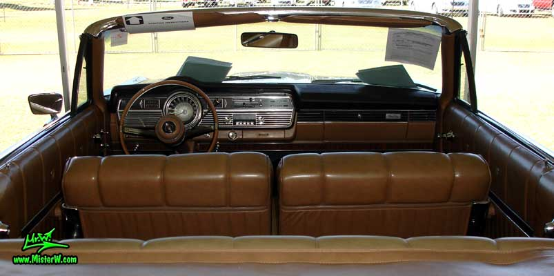 Photo of a silver 1967 Mercury 2 Door Convertible at a Classic Car Auction in Scottsdale, Arizona. 1967 Mercury Interior