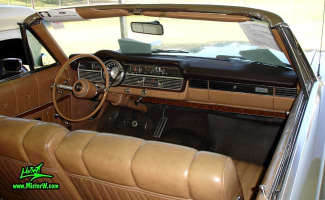 Photo of a silver 1967 Mercury 2 Door Convertible at a Classic Car Auction in Scottsdale, Arizona. 1967 Mercury Convertible Interior & Dashboard
