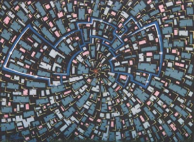 Abstract Mural by Werner Skolimowski in Phoenix, Arizona, June 1998