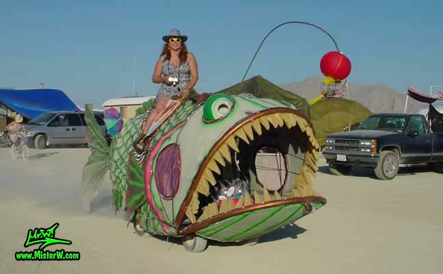 Lantern Fish Art Car