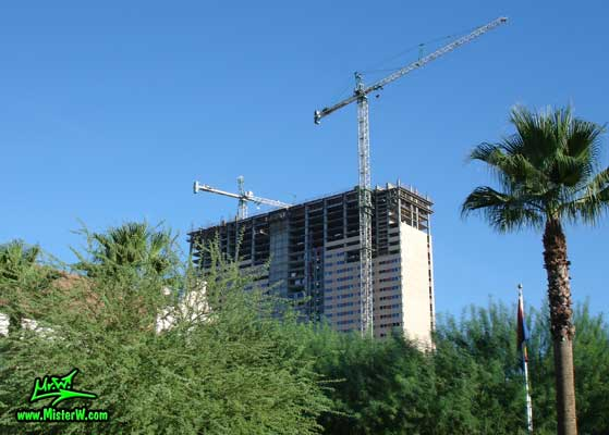Photo of the Sheraton Phoenix Downtown under construction in August 2007 The Sheraton Phoenix Downtown under construction