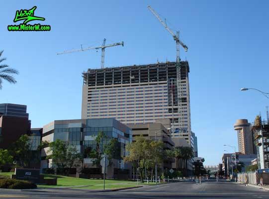 Photo of the Sheraton Phoenix Downtown construction & Hyatt Regency Building, taken from 2nd Street & Fillmore Street in August 2007 Sheraton Phoenix Downtown