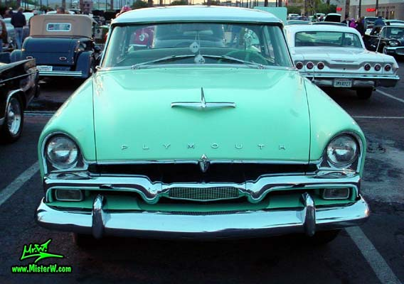 Front Chrome Grill Of A 56 Plymouth 1956 Plymouth