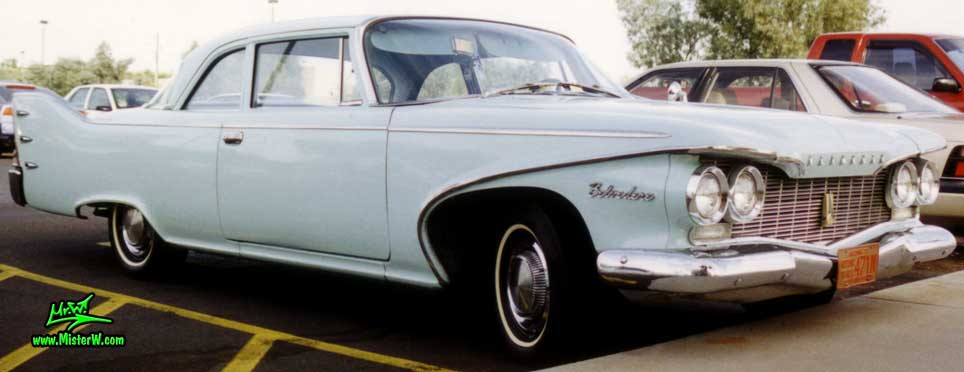 Photo of a baby blue 1960 Chrysler Plymouth Belvedere 2 Door Hardtop Coupe in Sunnyslope, Arizona. 1960 Plymouth Coupe