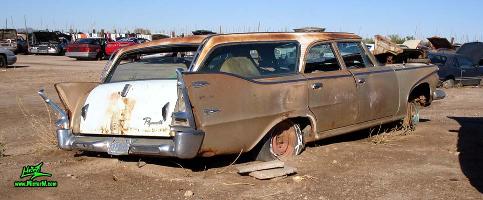 Side View Of A 1960 Plymouth Custom Suburban 4 Door