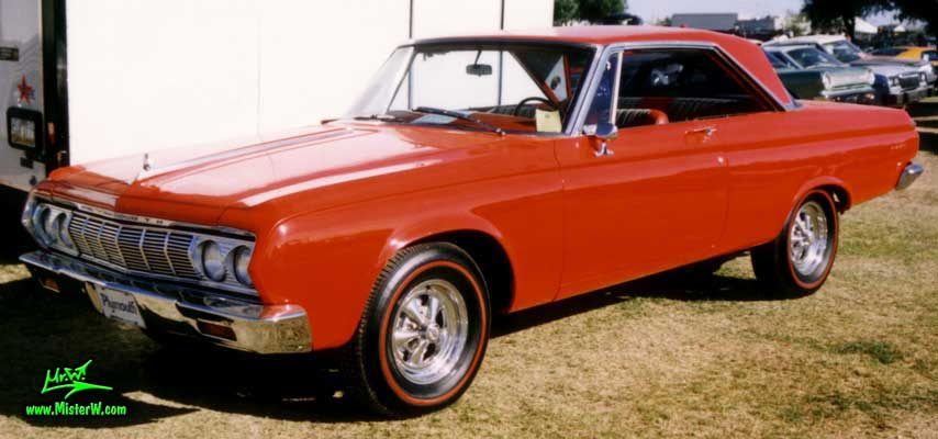 Photo of a red 1964 Chrysler Plymouth Fury 2 Door Hardtop Coupe at a classic car auction in Arizona. 1964 Plymouth Fury Coupe
