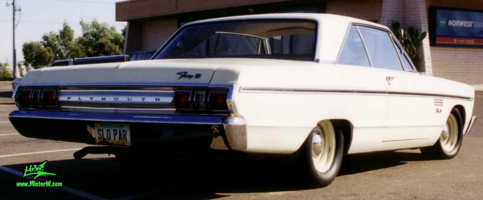 Photo of a white 1965 Chrysler Plymouth Fury 2 Door Hardtop Coupe in Sunnyslope, Arizona. 1965 Plymouth Fury Coupe