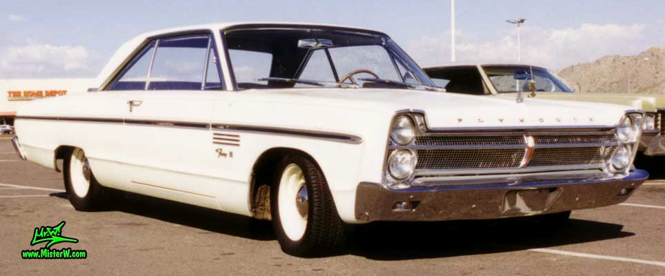Photo of a white 1965 Chrysler Plymouth Fury 2 Door Hardtop Coupe in Sunnyslope, Arizona. 1965 Plymouth
