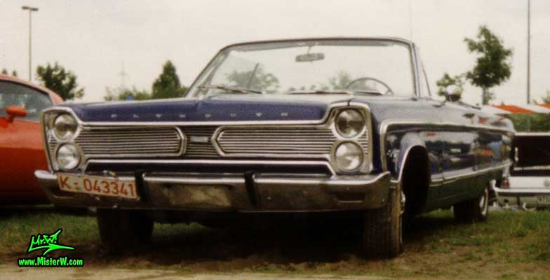 Photo of a dark blue 1966 Chrysler Plymouth Fury Convertible at a classic car meeting in Köln Chorweiler (Cologne), Germany. 1966 Plymouth Fury Convertible