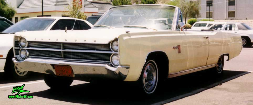 Photo of a white 1967 Chrysler Plymouth Sport Fury Convertible in Sunnyslope, Arizona. 1967 Plymouth Sport Fury Convertible