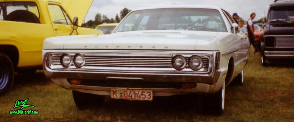 Photo of a white 1970 Chrysler Plymouth 4 Door Hardtop Sedan at a classic car meeting in Germany. 1970 Plymouth Sedan
