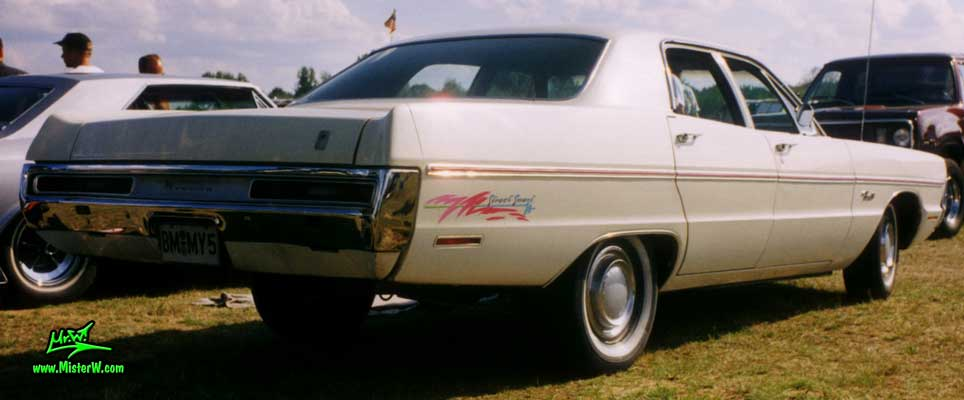 Photo of a white 1970 Chrysler Plymouth 4 Door Hardtop Sedan at a classic car meeting in Germany. 1970 Plymouth