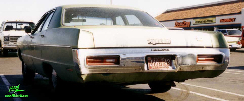 Photo of a green 1971 Chrysler Plymouth 4 Door Hardtop Sedan in Phoenix, Arizona. 1971 Plymouth