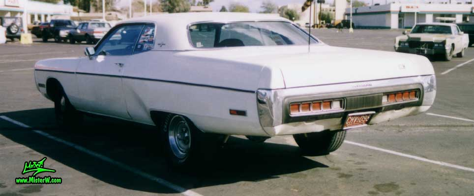 Photo of a white 1972 Chrysler Plymouth Fury 2 Door Hardtop Coupe in Phoenix, Arizona. Fuselage Style 1972 Plymouth Fury Coupe