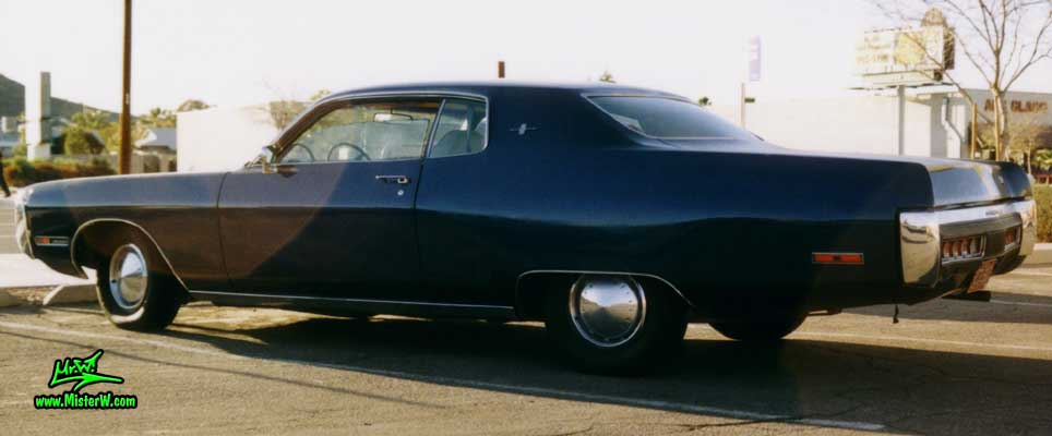 Photo of a black 1972 Chrysler Plymouth 2 Door Hardtop Coupe in Phoenix, Arizona. Sideview of a 1972 Plymouth Coupe