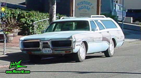 Photo of a blue 1972 Chrysler Plymouth Station Wagon in Seattle, Washington. 1972 Chrysler Plymouth Station Wagon
