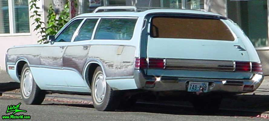 Photo of a blue 1972 Chrysler Plymouth Station Wagon in Seattle, Washington. 1972 Plymouth Wagon