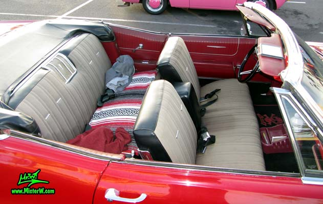 Photo of a red 1967 Pontiac Bonneville Convertible at the Scottsdale Pavilions Classic Car Show in Arizona. 1967 Pontiac Bonneville Convertible Interior