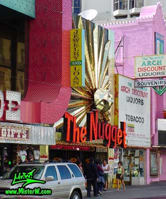 Photo of The Nugget Casino in Reno, Nevada taken from Viginia Street between Commercial Row & 2th Street in summer 2002 The Nugget in Reno, Nevada