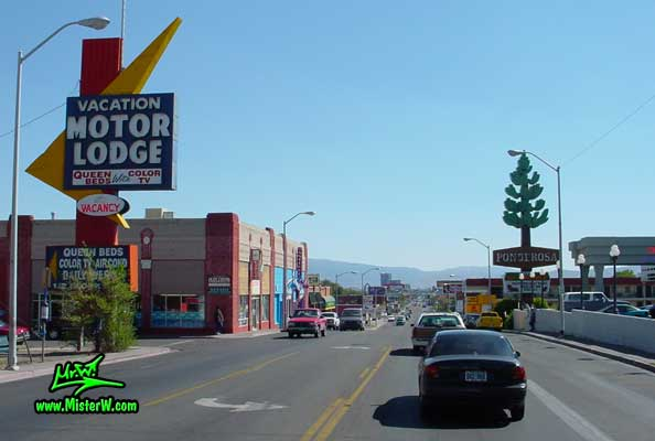 Photo of Virginia Street in Reno taken between California Avenue & Moran Street, in summer 2002 Virginia Street in Reno