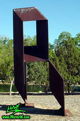 Steel Sculpture at the Virginia Lake in Reno, summer 2002 Sculpture at Virginia Lake in Reno