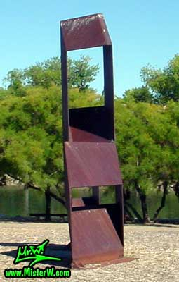 Steel Sculpture at the Virginia Lake in Reno, summer 2002 Steel Sculptures at Virginia Lake in Reno