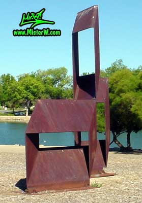 Steel Sculpture at the Virginia Lake in Reno, summer 2002 Sculpture in Reno, Nevada