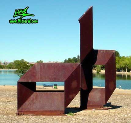 Steel Sculpture at the Virginia Lake in Reno, summer 2002 Sculpture in Reno