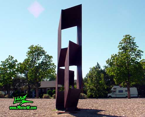 Steel Sculpture at the Virginia Lake in Reno, summer 2002 Big Steel Sculpture at Virginia Lake in Reno