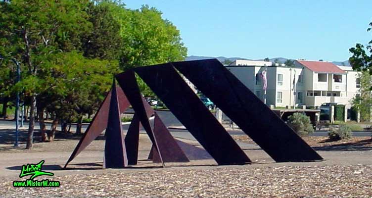 Steel Sculpture at the Virginia Lake in Reno, summer 2002 Big Steel Sculpture in Reno