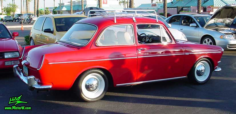 Photo of a red Volkswagen Type 3 Notchback Coupe at the Scottsdale Pavilions Classic Car Show in Arizona. Volkswagen Notchback
