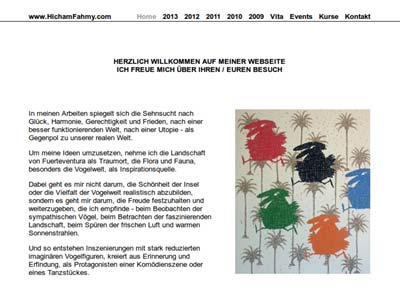 Screenshot of www.HichamFahmy.com - WebDesign by Mr.W.