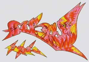 Graffiti Sketch by Mr.W. - Professional Graffiti Artist, Spray Painter & Vandalist!