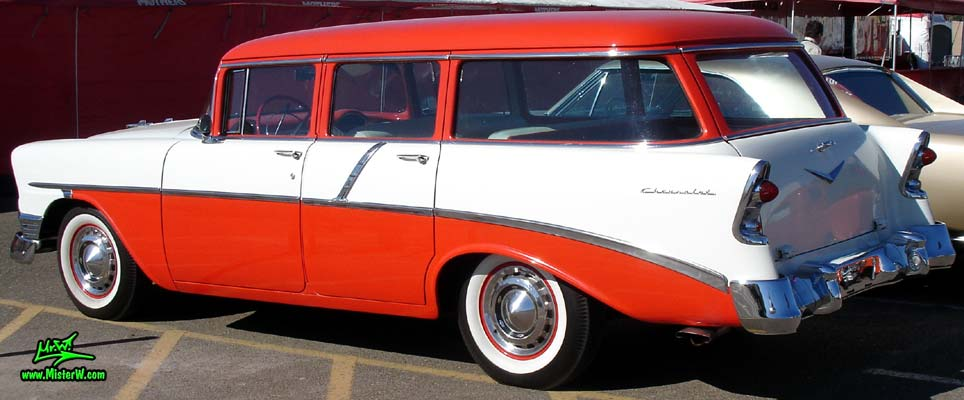 Popular Sideview of a 1956 Chevrolet Station Wagon | 1956 Chevrolet 4 Door  AA49